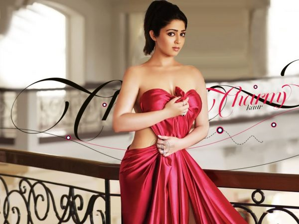 charmy kaur red hot dress