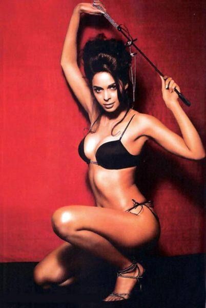 mallika sherawat in black bikini