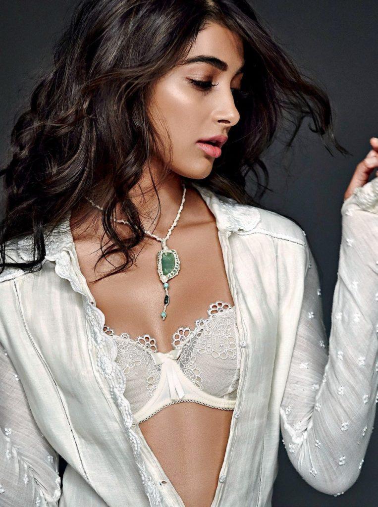 Actress Pooja Hegde Hot Bikini Bra Cleavage Photo Shoot HD Maxim India Magazine 2017 Images Gallery