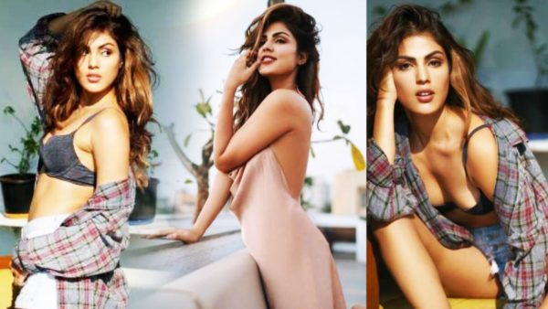 Rhea Chakraborty hot Bra bikini Photos