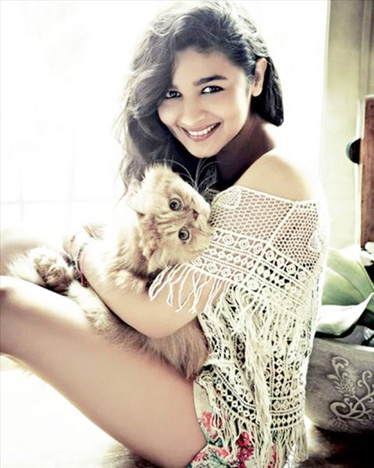 Alia Bhatt with her pet